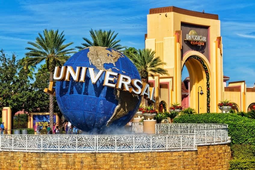 Universal Studios globe at Orlando, Fl